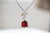 Real Flower Jewelry - Rose bud Necklace in Fuchsia