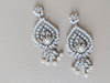 Statement Bridal Earrings | Designer Wedding Earrings - Style E1906