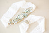 Designer Wedding Garter in Opal Gold
