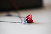 Real Red Rosebud Necklace for Valentnes Day Gifts