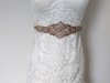 rose gold wedding sash