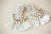 Large chandelier bridal earrings Style E11