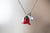 Real Red Rose Bud Necklace