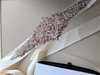 designer rose gold bridal sash belt