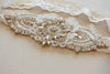 beaded bridal garter set - keela