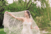 Vintage inspired cathedral length bridal veil - Style V05  (1 qty ready to ship)