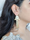 designer bridal earrings in gold