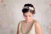 swarovski bridal headband in gold