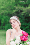 Bridal headband on tulle fabric - Style H47