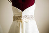 Ivory bridal belt, style S41 ( 1qty ready to ship)