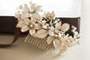 Gold bridal hair comb - Style H31  (1 qty ready to ship)