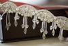 bridal garters with fringe