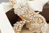 Gold swarovski bridal hairpiece - Style H11