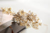 gold bridal headband - H30