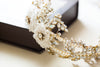 gold crystal bridal hair pieces - H35