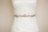 wedding sashes in gold