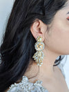 gold crystal bridal earrings