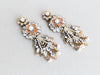 Large Anqitue Gold and Pearl Wedding Earrings