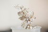 Flower and leaf bridal hair pins - H32