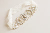 Gold bridal garter set