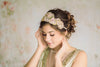 Gold tone wedding headpieces