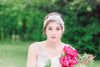 beaded bridal headpiece
