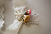rose bud bridal garters