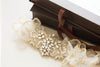 gold embellished bridal garter - G12