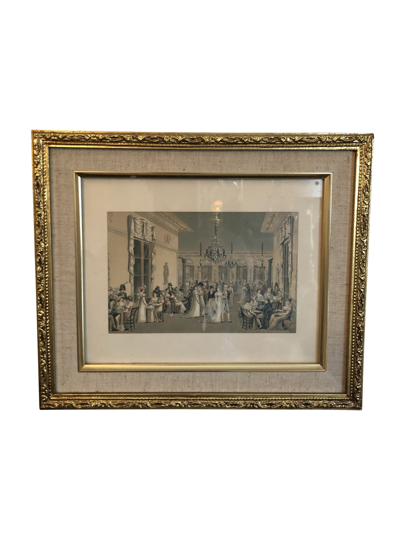French Ballroom with Merriment Framed Art