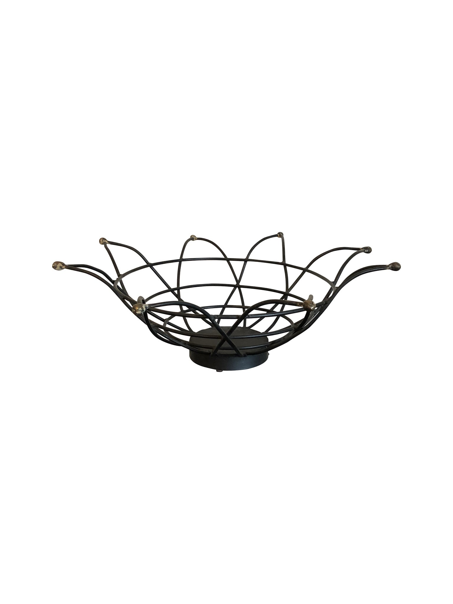 Wrought Iron Star Shaped Basket