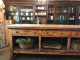 European counter w/ marble top