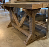 Raw-wood console