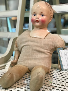 Antique 1940's Soft Body Doll by Woodtex, NY