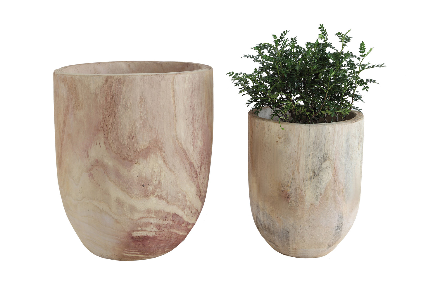 Handmade Wooden Pots - Free Shipping!