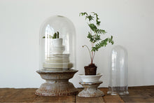 Load image into Gallery viewer, Set of 2 Cloches with Zinc-finished Base - FREE SHIPPING