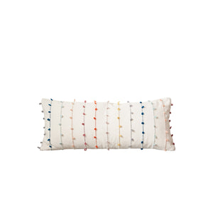 Multicolor Loop-Stripe Lumbar Pillow