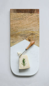 Marble & Wood Cheese Board - FREE SHIPPING