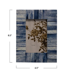 Indigo Wood & Bone Frame - FREE SHIPPING