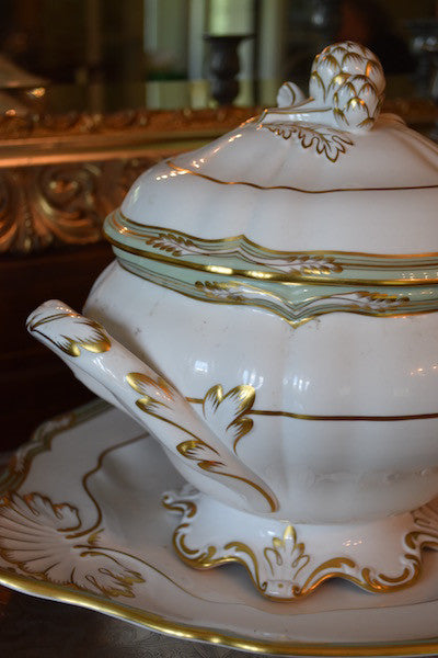 Spode tureen and platter  - Buena Vista collection