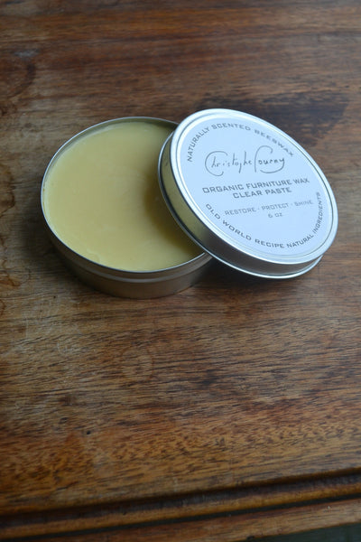 Christophe Pourny Organic Furniture Wax Clear Paste