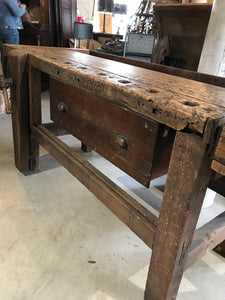7' workbench with drawer