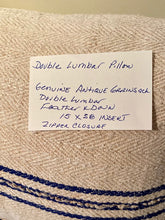 Load image into Gallery viewer, Grain Sack Lumbar Pillow