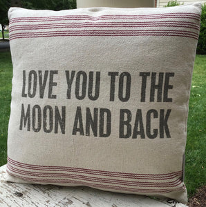 """Love You to the Moon and Back"" Pillow"