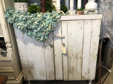 Load image into Gallery viewer, Primitive Farmhouse White Cabinet