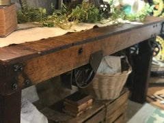Nutting factory cart table