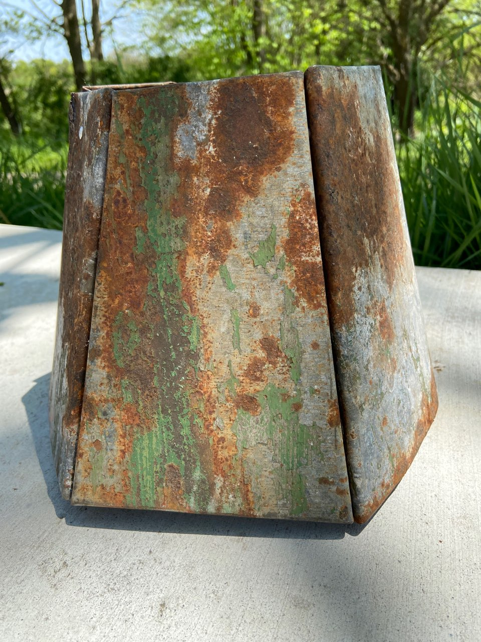 Salvaged Metal Lampshade