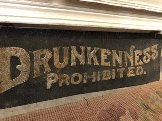 Drunkenness Prohibited Sign