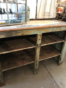 Distressed Antique Cabinet/Island