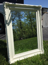 Load image into Gallery viewer, Large White Vintage Mirror