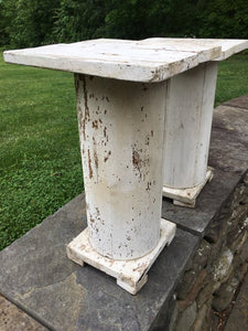 Vintage White Chippy Column - Make Great Plant Stand!